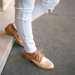 Derbies bimatière rose gold