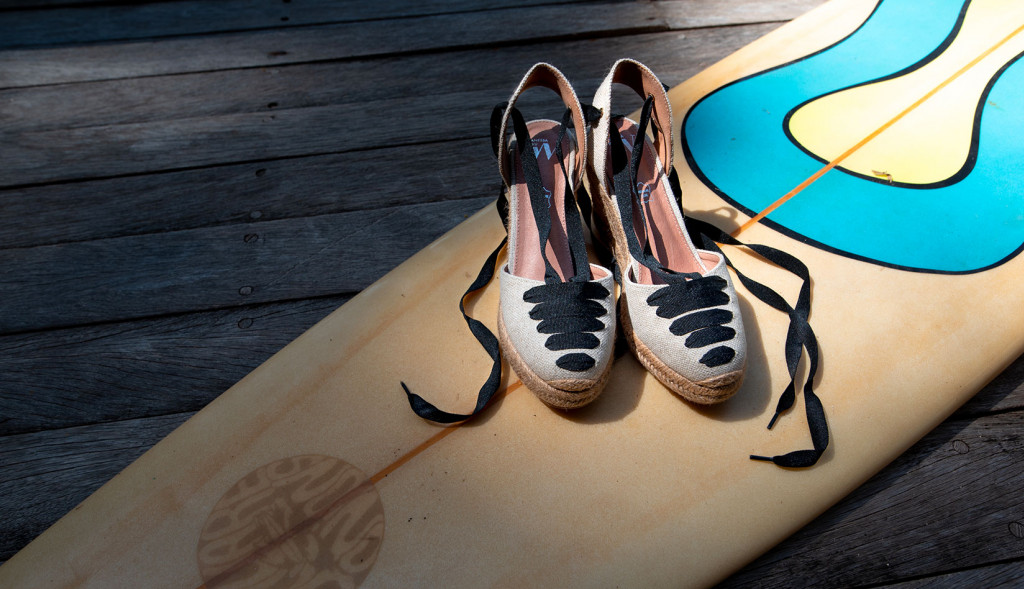 What sandals go with surf swimwear?
